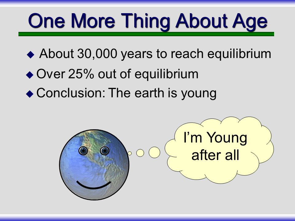 One More Thing About Age