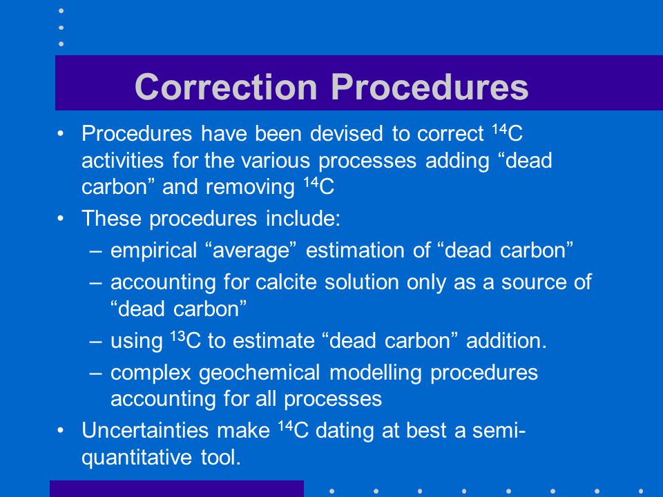 Correction Procedures