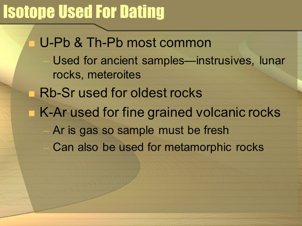 Isotope Used For Dating