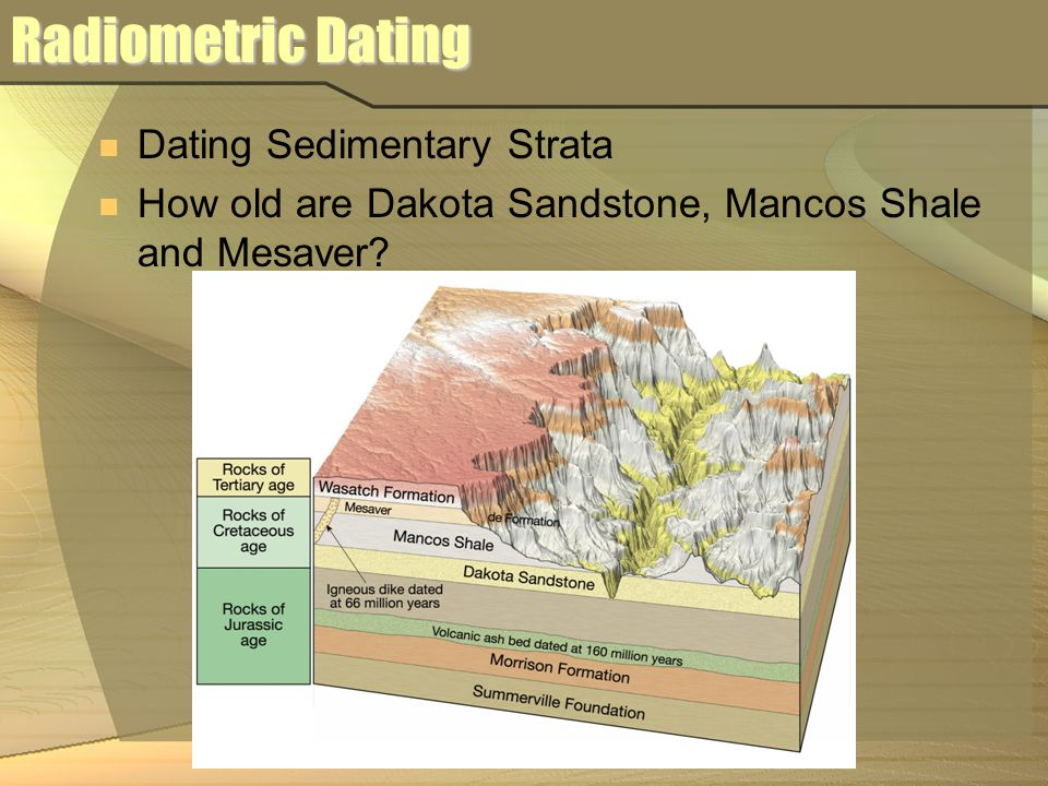 radiometric dating sedimentary rocks Absolute ages of rocks radiometric dating of rocks dating works best for igneous rocks and is not very useful for determining the age of sedimentary rocks.
