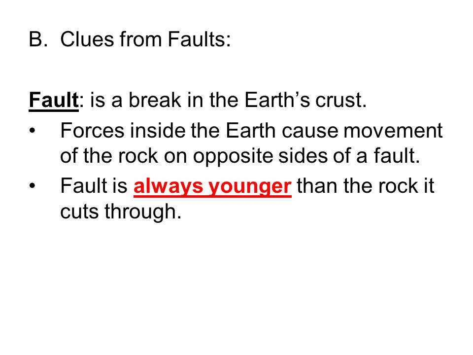 Fault: is a break in the Earth's crust.