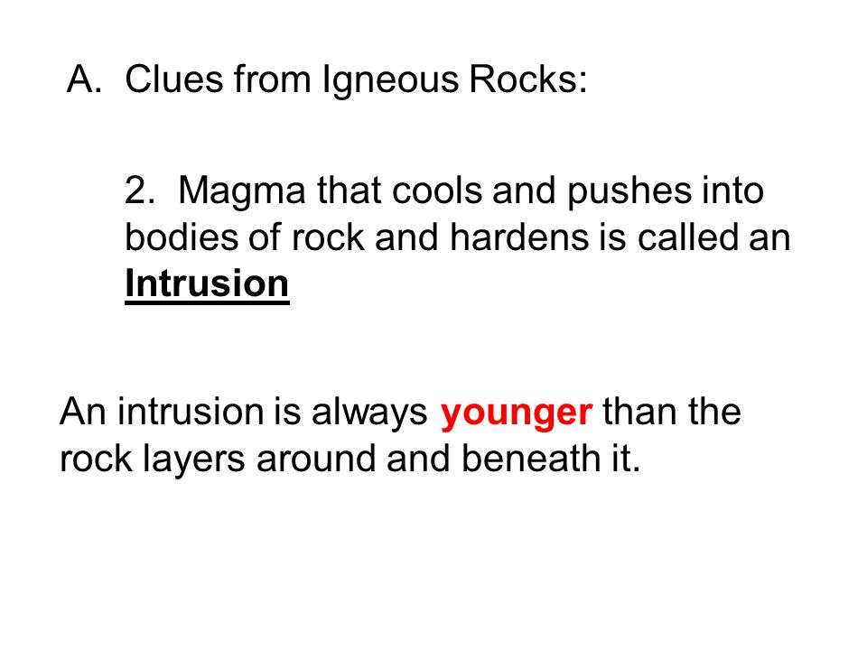 Clues from Igneous Rocks: