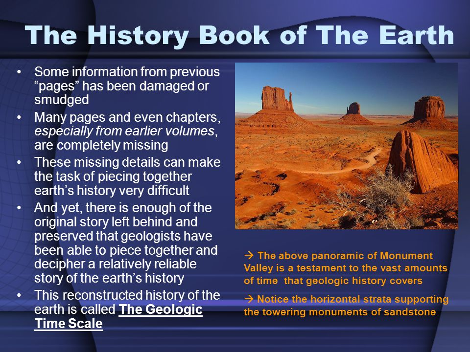 The History Book of The Earth