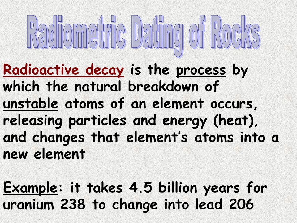 Radiometric Dating of Rocks