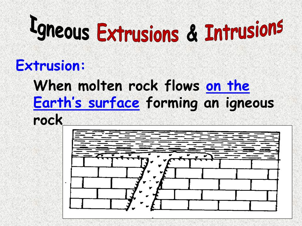 Igneous Extrusions & Intrusions