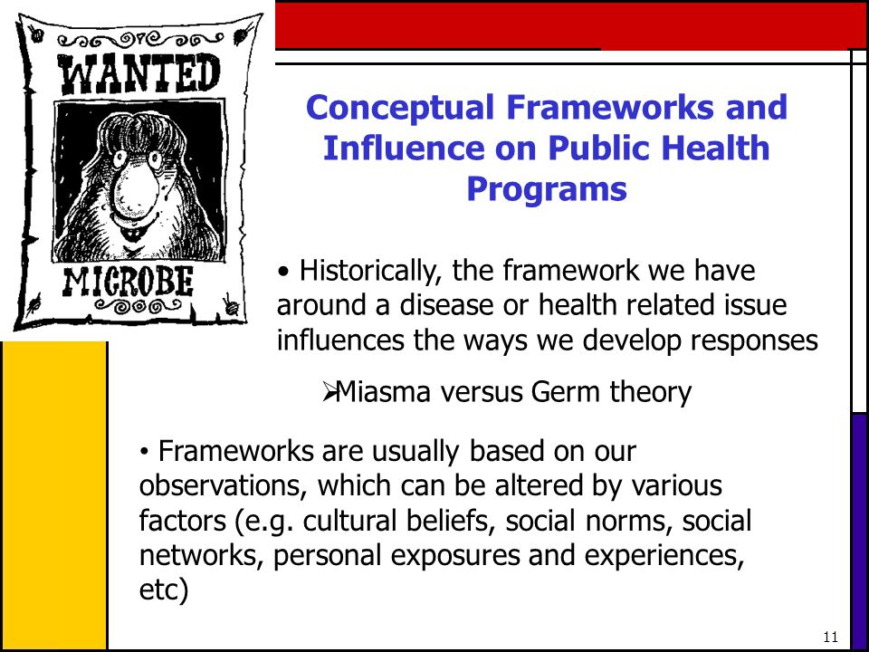 Conceptual Frameworks and Influence on Public Health Programs