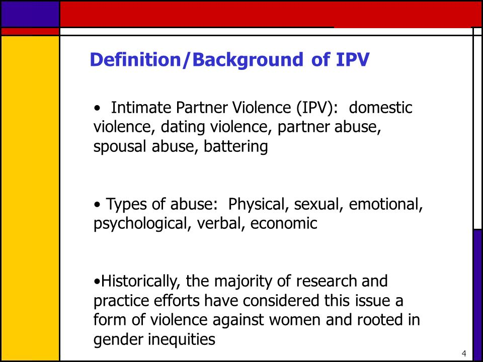 Definition/Background of IPV