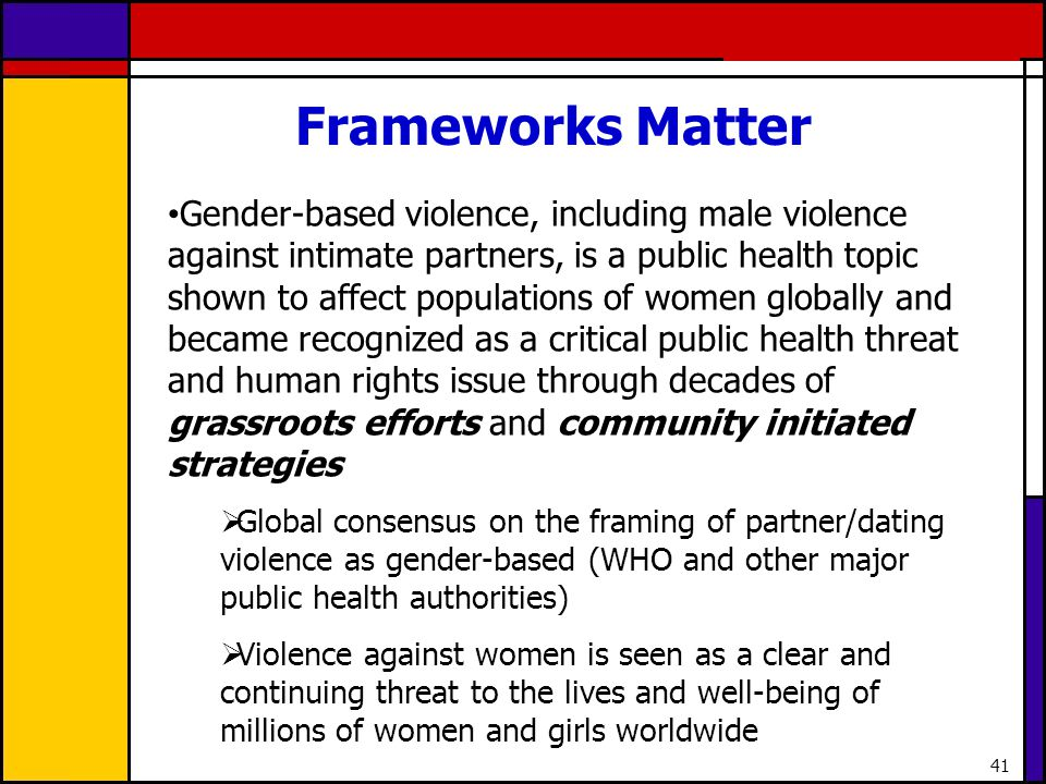 Frameworks Matter