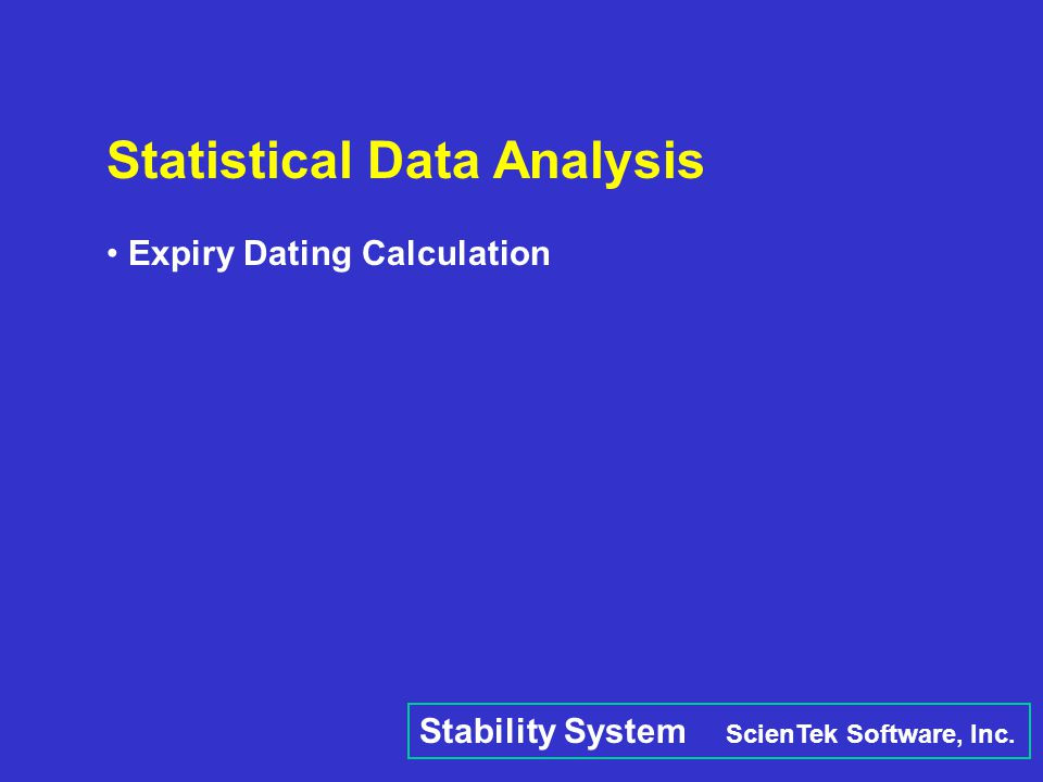Statistical Data Analysis