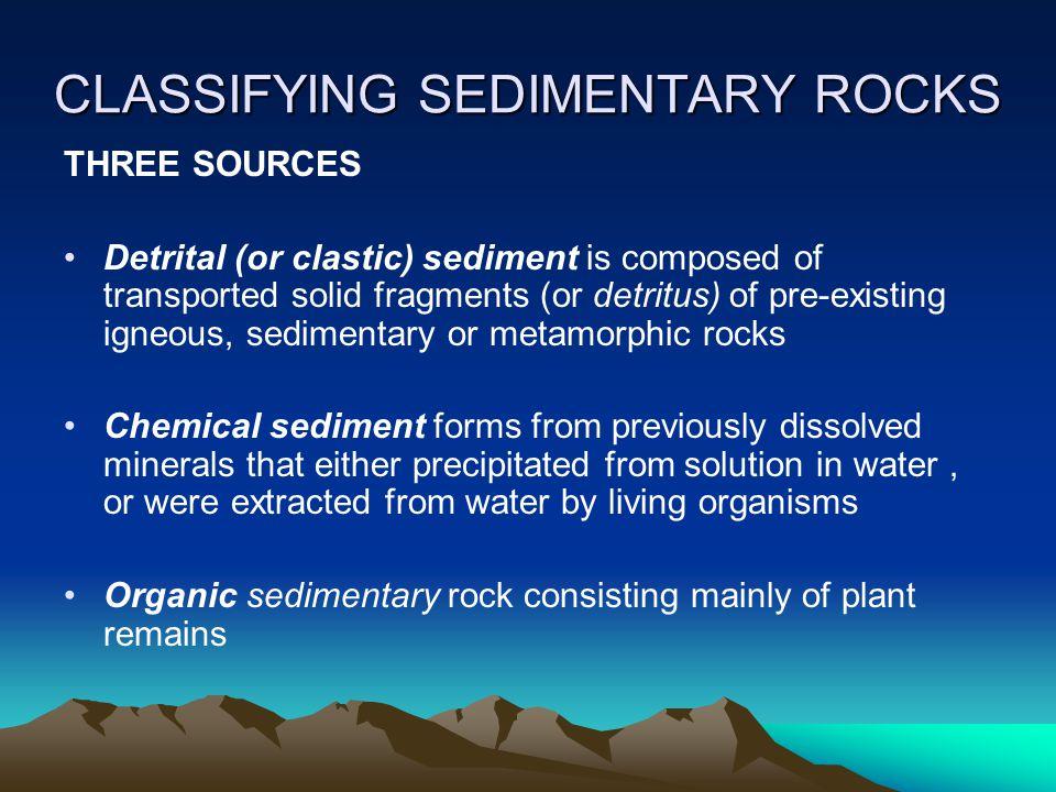 CLASSIFYING SEDIMENTARY ROCKS