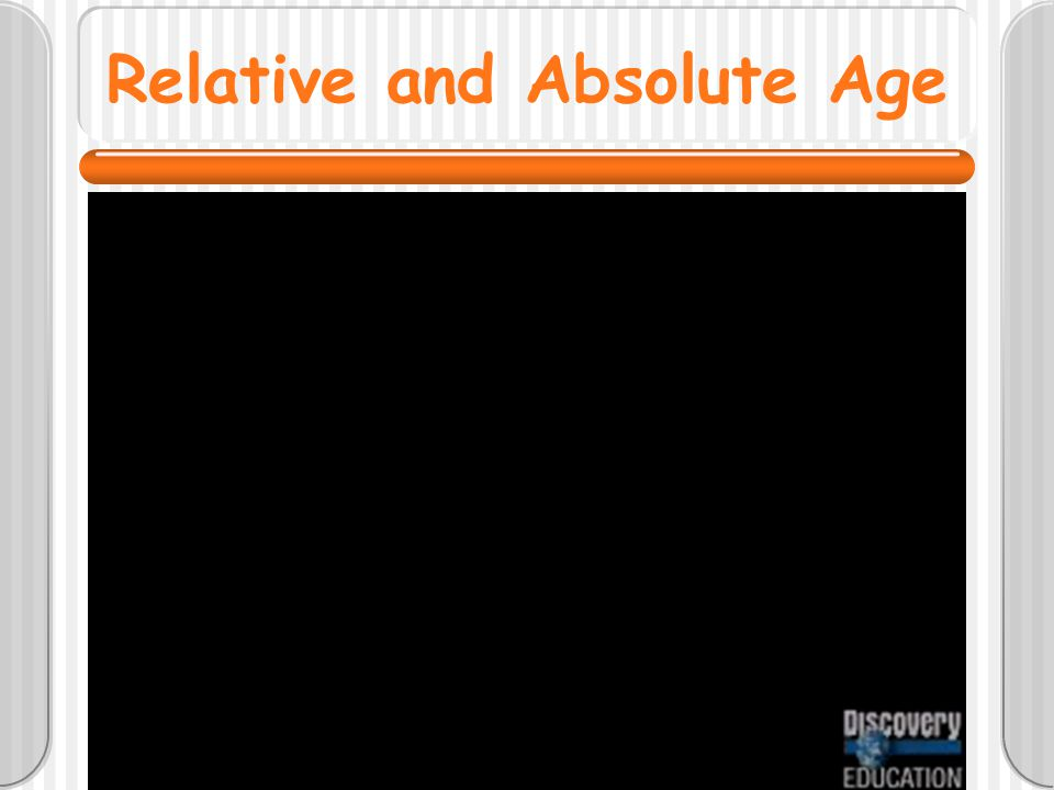 Relative and Absolute Age