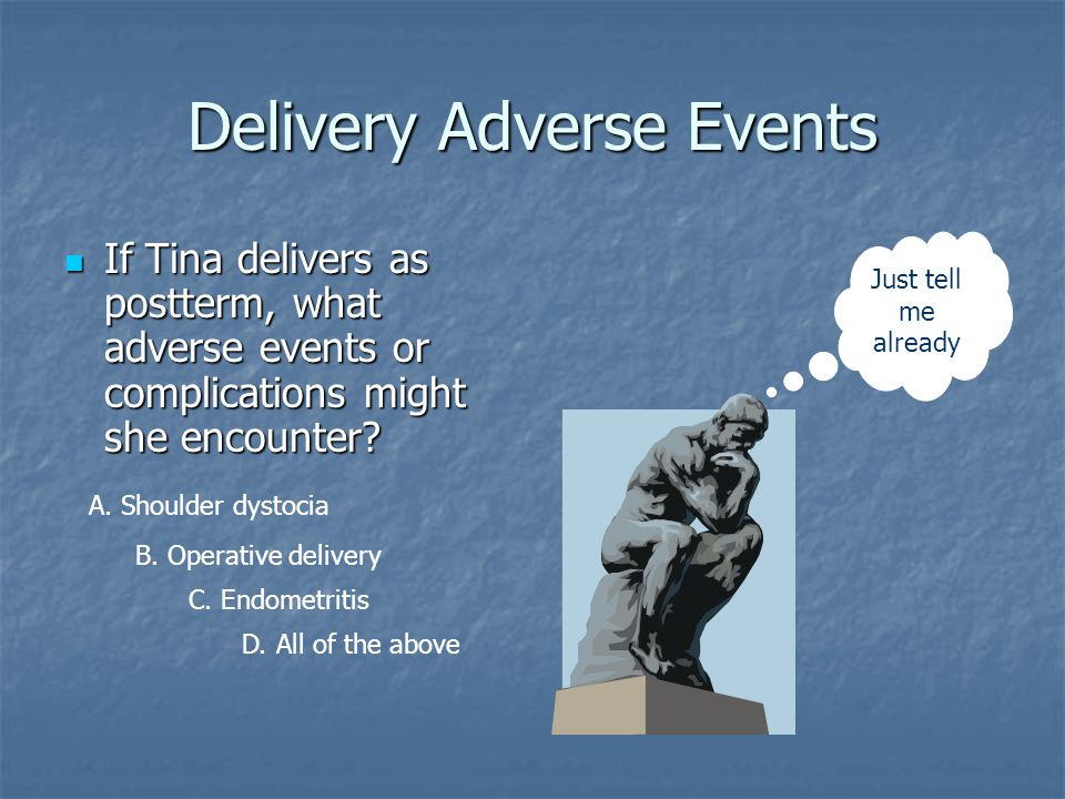 Delivery Adverse Events