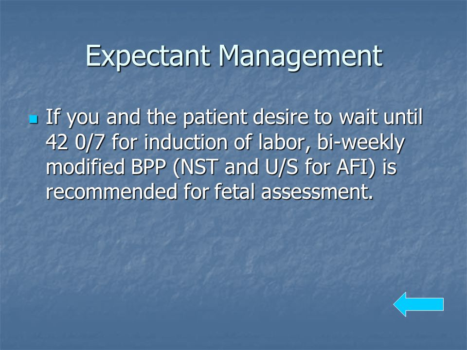 Expectant Management