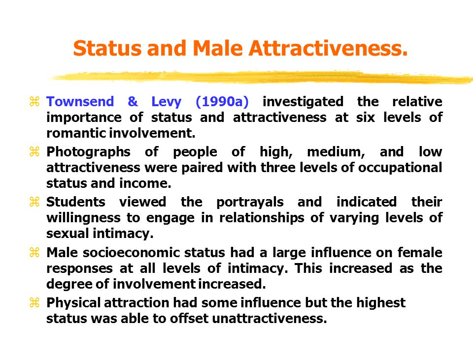 Status and Male Attractiveness.