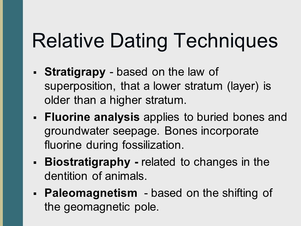 relative and chronometric dating techniques