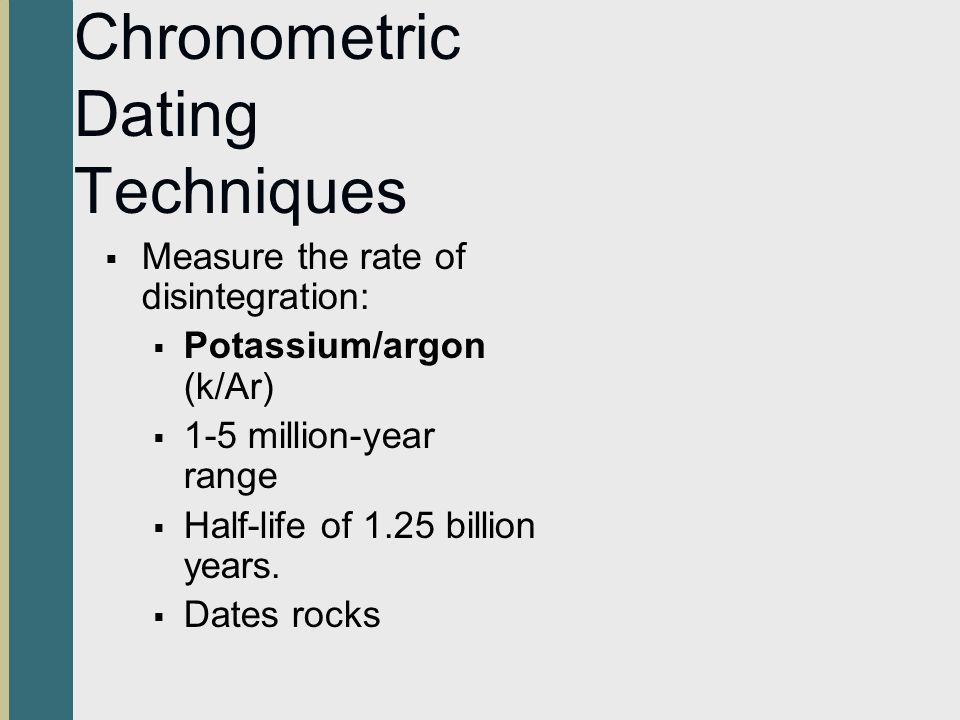 What is chronometric dating techniques