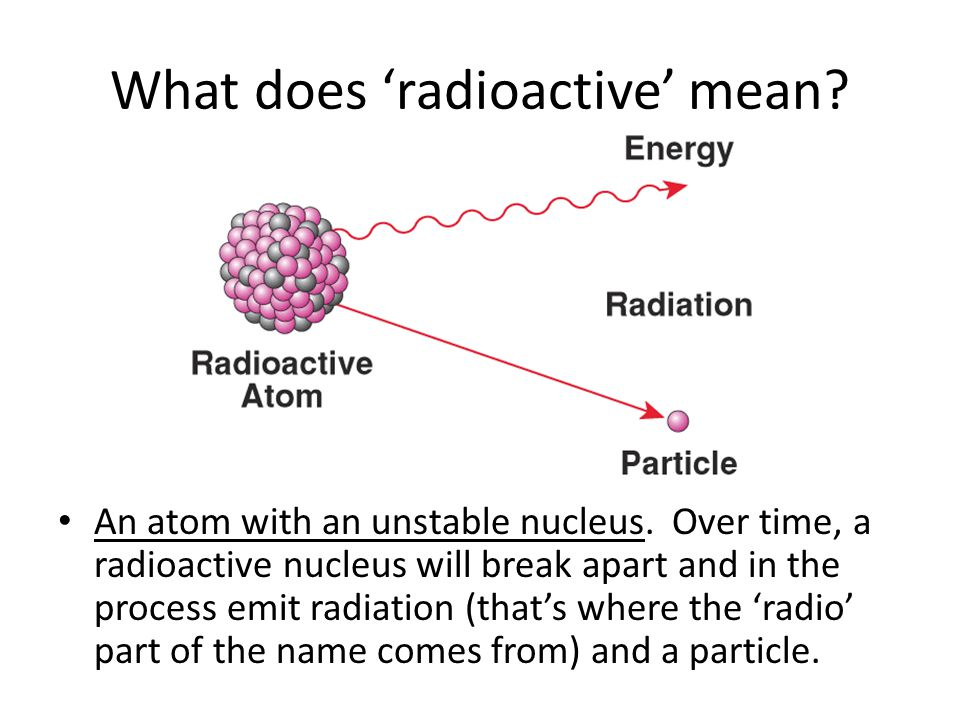 What does 'radioactive' mean