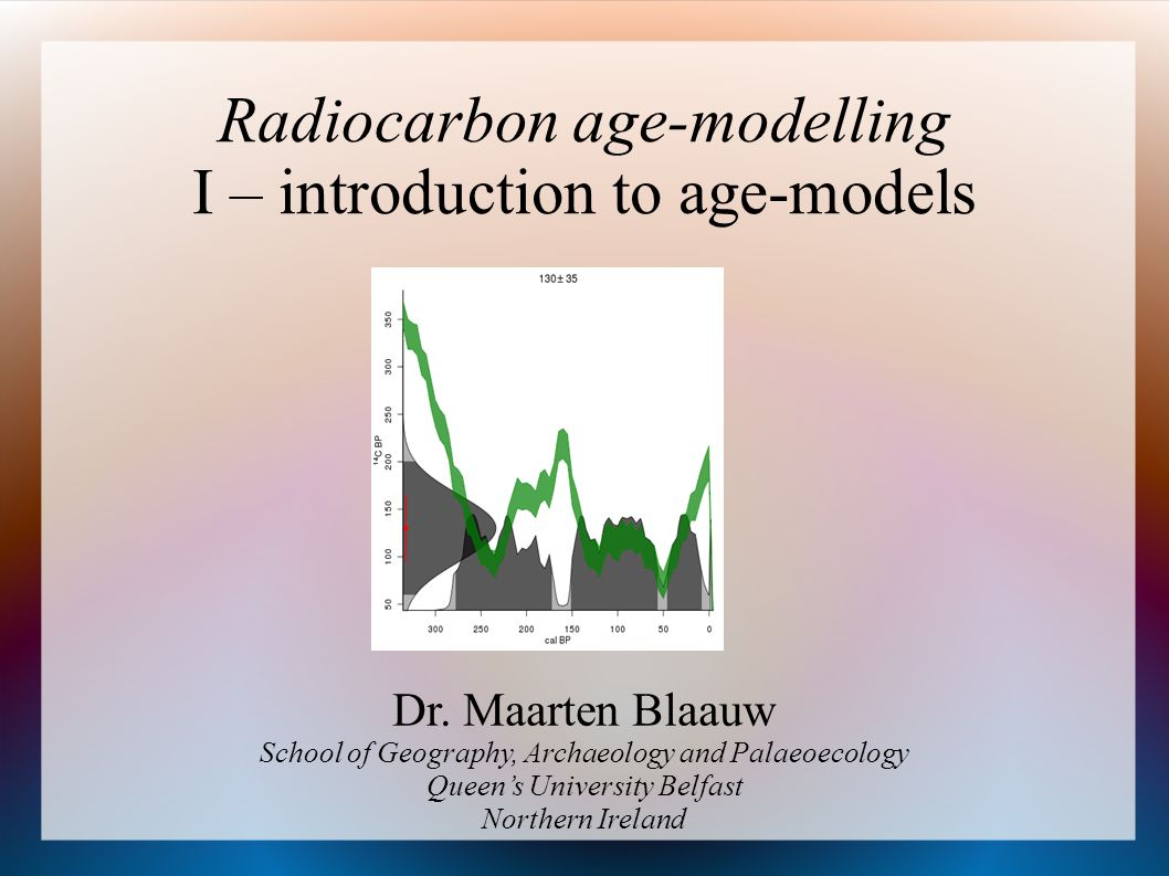 Radiocarbon age-modelling I – introduction to age-models