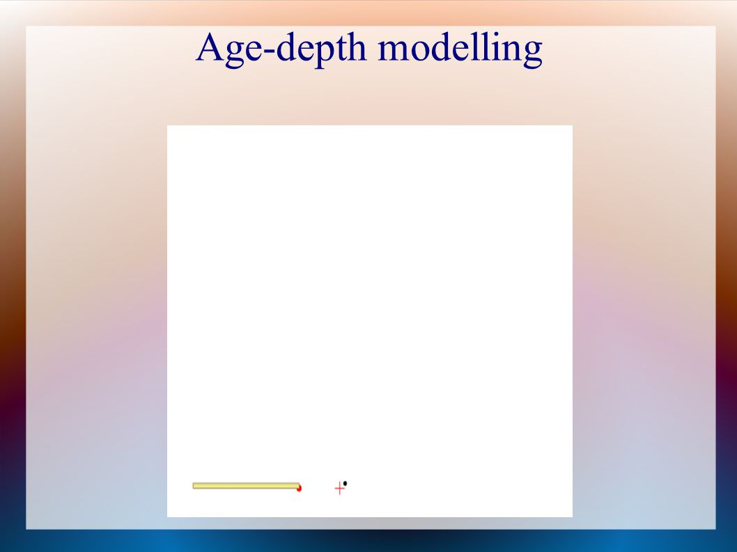 Age-depth modelling 24