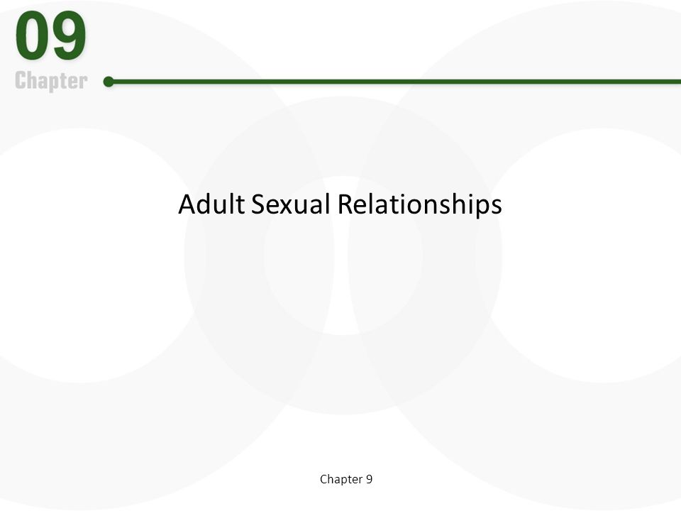 Adult Sexual Relationships