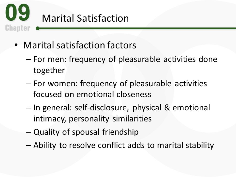 Marital Satisfaction Marital satisfaction factors