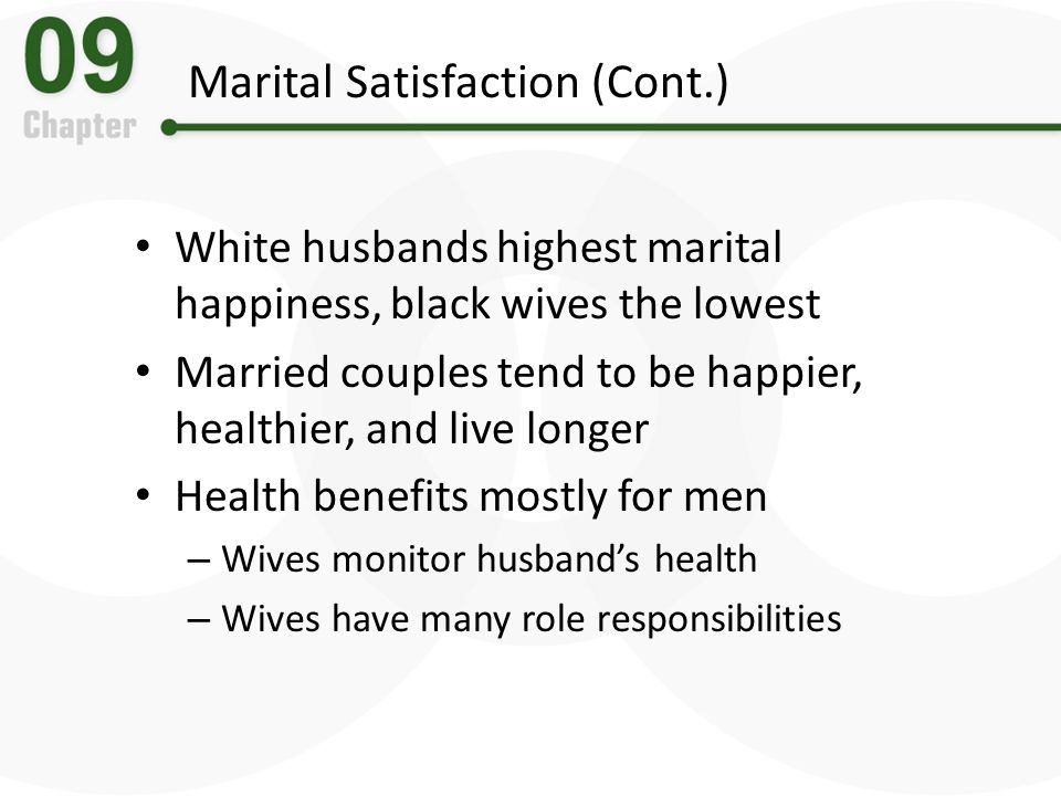 Marital Satisfaction (Cont.)