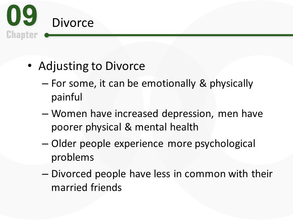 Divorce Adjusting to Divorce