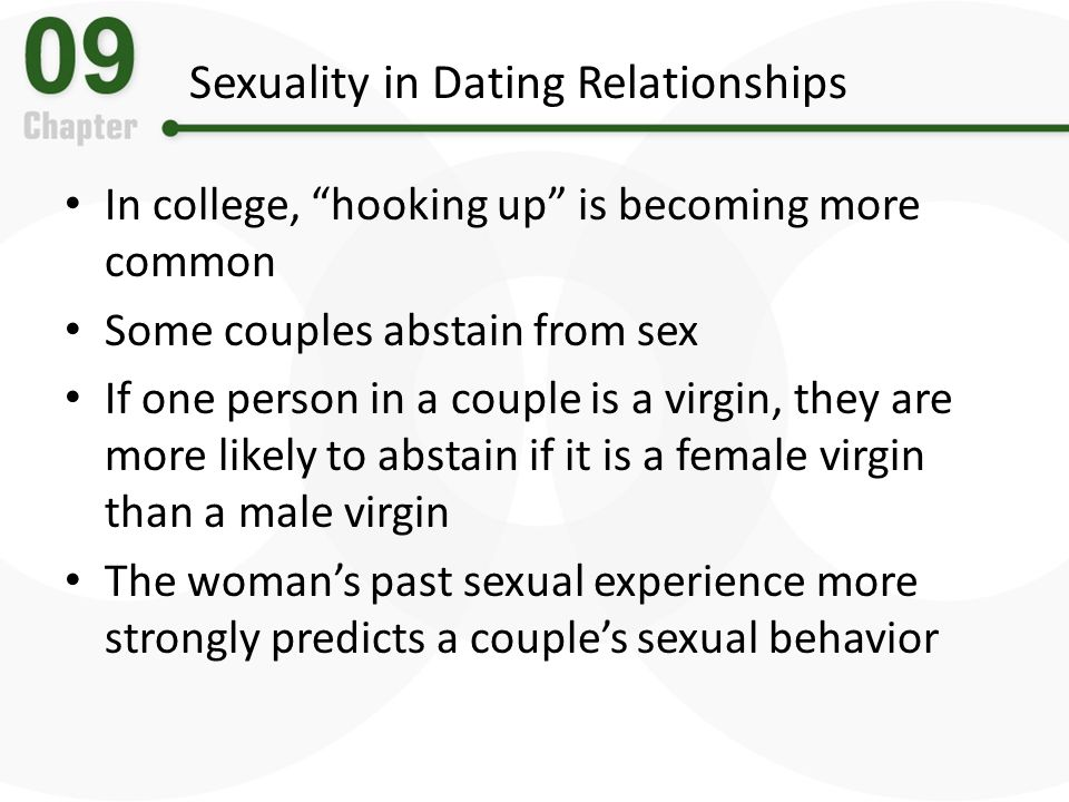 Sexuality in Dating Relationships