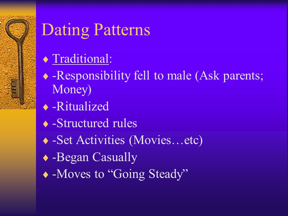 Dating Patterns Traditional: