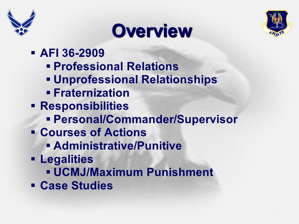 Overview AFI 36-2909 Professional Relations