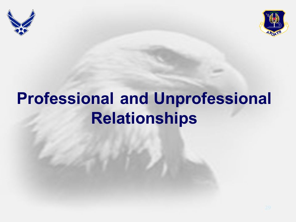 Professional and Unprofessional