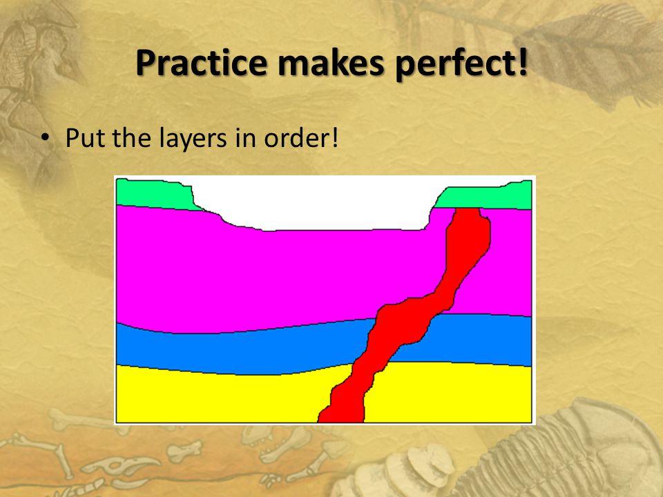 Practice makes perfect!