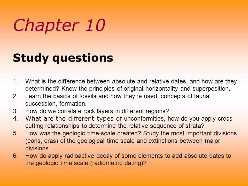 Chapter 10 Study questions