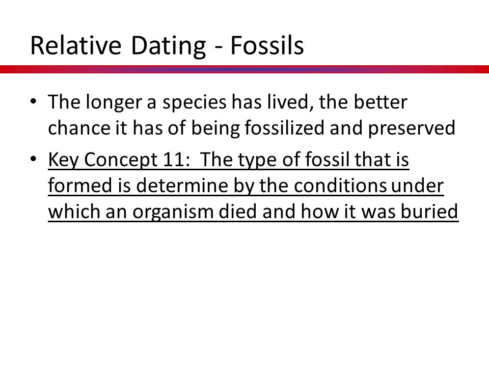 Relative Dating - Fossils
