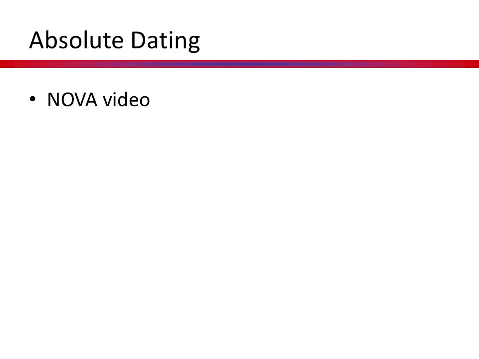 Absolute Dating NOVA video
