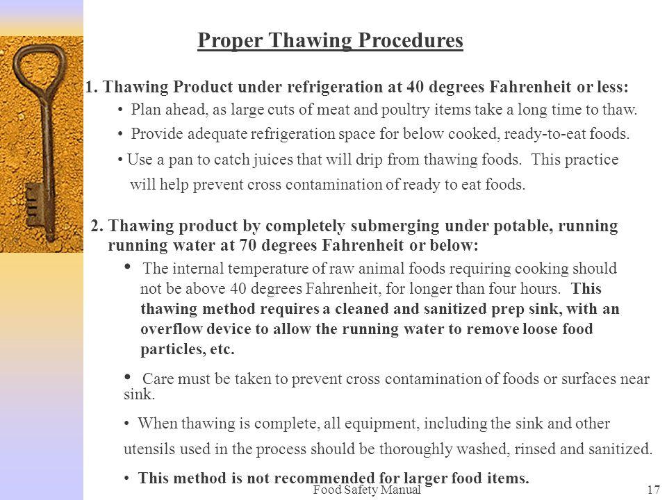Proper Thawing Procedures