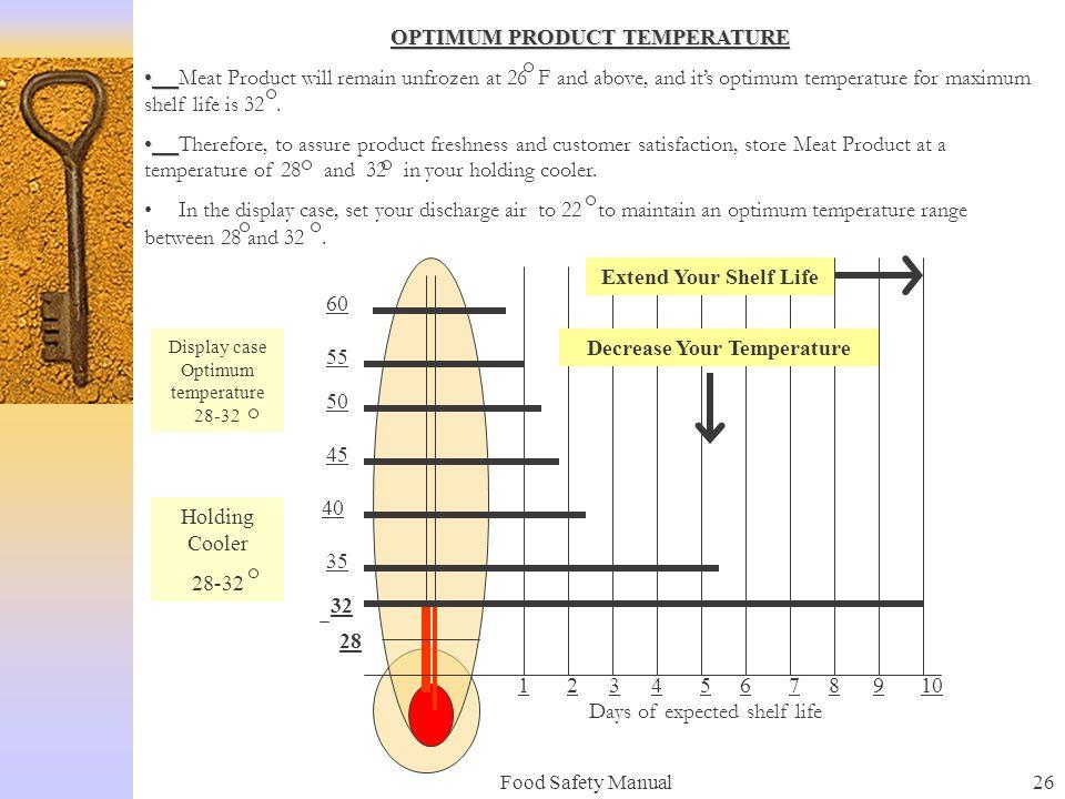 OPTIMUM PRODUCT TEMPERATURE Decrease Your Temperature