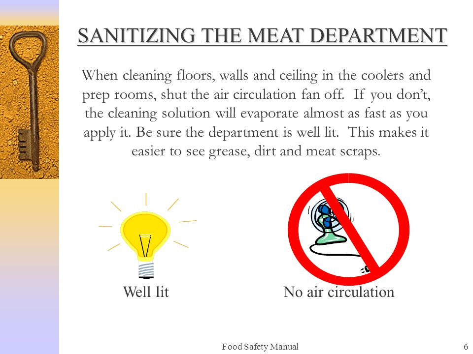 SANITIZING THE MEAT DEPARTMENT