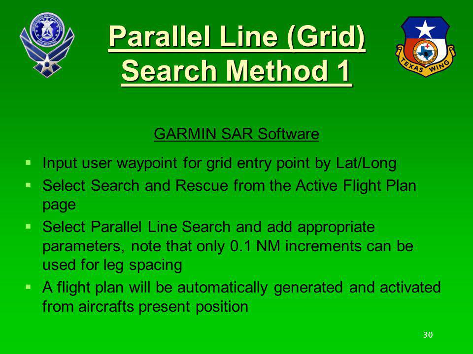 Parallel Line (Grid) Search Method 1