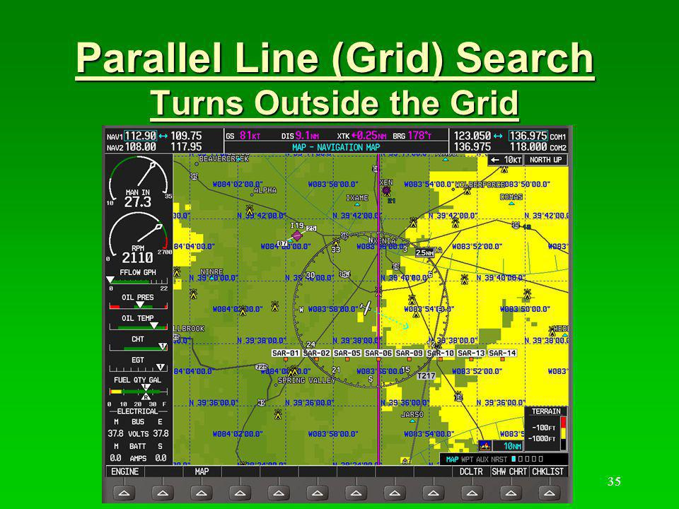 Parallel Line (Grid) Search Turns Outside the Grid