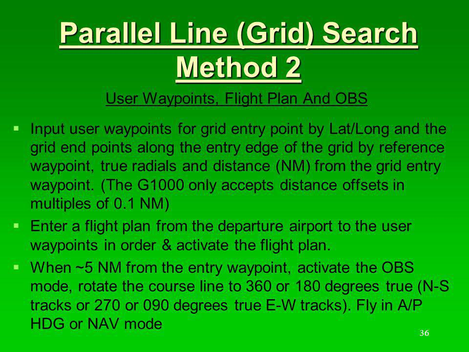 Parallel Line (Grid) Search Method 2