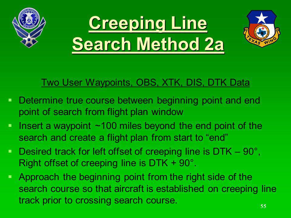 Creeping Line Search Method 2a