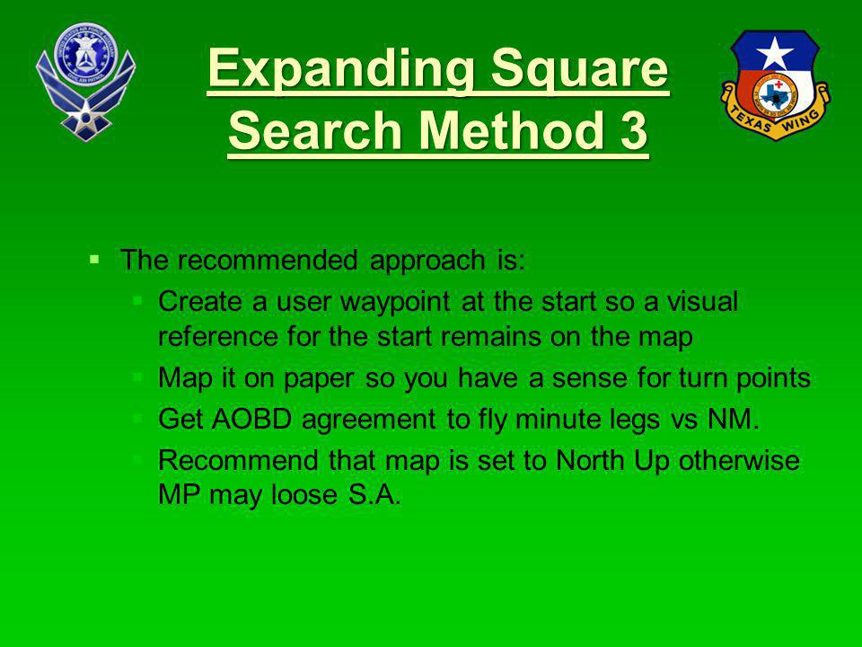 Expanding Square Search Method 3
