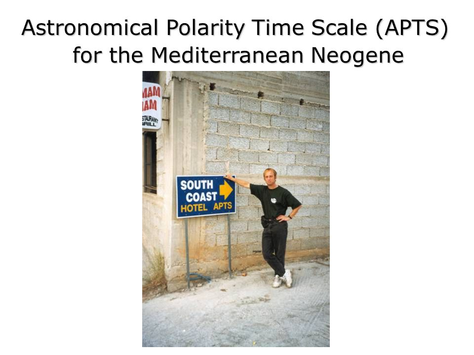 Astronomical Polarity Time Scale (APTS) for the Mediterranean Neogene