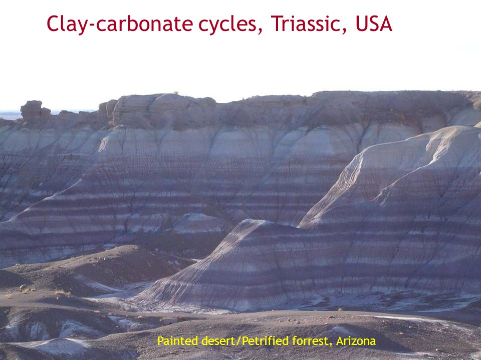 Clay-carbonate cycles, Triassic, USA
