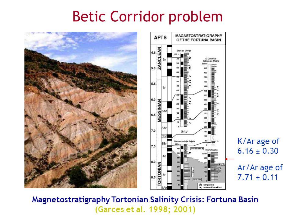 Magnetostratigraphy Tortonian Salinity Crisis: Fortuna Basin