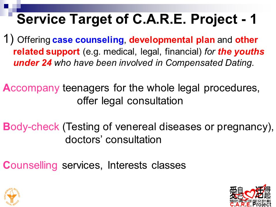 Service Target of C.A.R.E. Project - 1