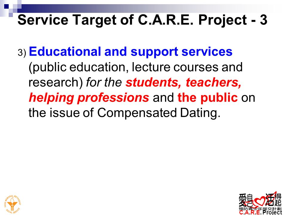 Service Target of C.A.R.E. Project - 3