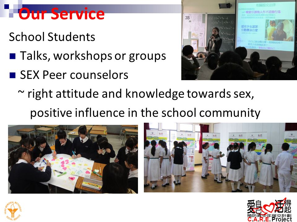 Our Service School Students Talks, workshops or groups