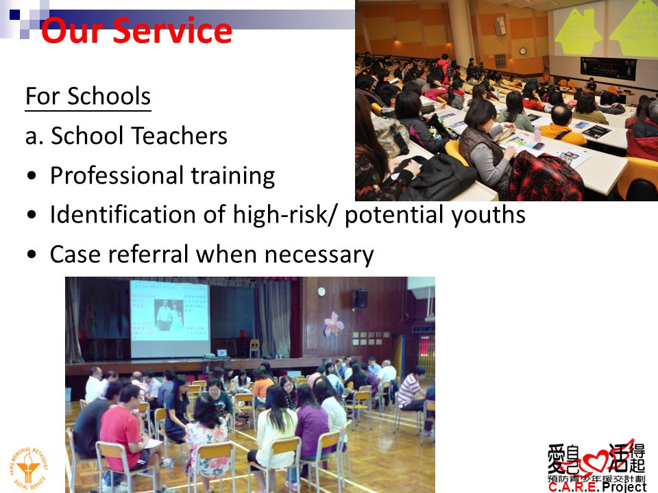 Our Service For Schools a. School Teachers Professional training
